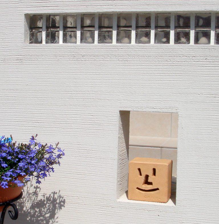 塗り壁と砂岩ピンコロが、、山陽小野田市M邸