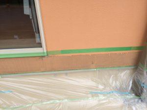 ウッドデッキの跡の補修塗装に美ウォールで!