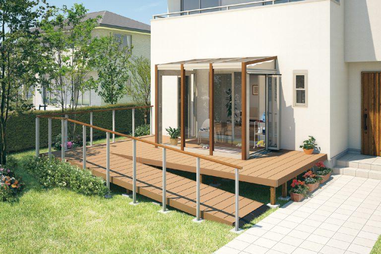 おばあちゃんのためのガーデンルーム バリアフリーで庭から出入り可能です!