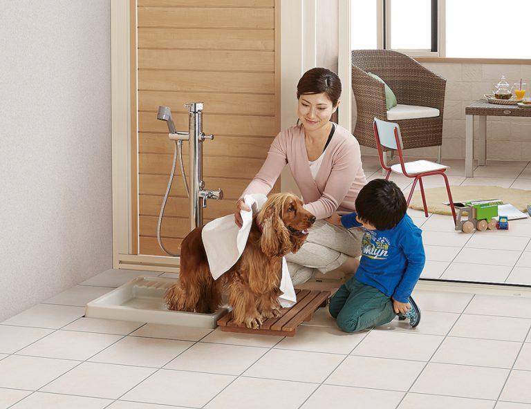 ペット用混合水栓を付ければ完璧です。