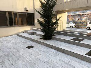 山陽小野田市 中庭をアメニティ空間へ整備中