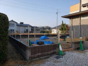 宇部市K様邸 お庭まわり リ・ガーデン工事進んでいます。