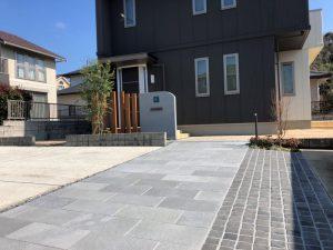 リ・エクステリア 高級感あふれるアプローチへ 宇部市W様邸 完成